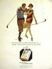 CHESTERFIELD Golf Players LIGGETT & MYERS Tobacco Advertising Ad 1928 Matted