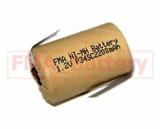 2X Ni-MH 4/5 SC Sub C1.2V 2200MAH Battery for Power Tools Model Toys US/RU