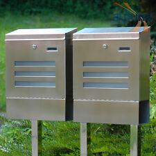 Doppel-Standbriefkasten 2er Edelstahl Briefkasten EMO