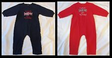 """ESPN One-Piece Outfit Red & Blue Lot Of 2 NEW 18 Months """"I Watch ESPN w My Daddy"""