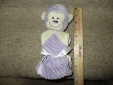 BABY GANZ Lovey Girl's Plush Blanket Purple Monkey Soft, Minky Fleece Never open