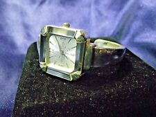 Woman's Geneva Cuff Watch with Square Crystal **Nice**B44-Box 02