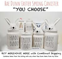 "Rae Dunn Canister HUNNY BUNNY EASTER CANDY PEEPS JELLY BEANS ""YOU CHOOSE"" '20"