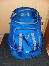 Pre-owned Under Armour Undeniable Baseball backpack bat bag, Navy Blue