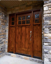 HIGHLAND STYLE CRAFTSMAN KNOTTY ALDER ENTRY DOOR 3/0 x 6/8 WITH SIDELIGHTS