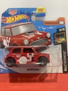 Hot Wheels Morris Mini Red Magnus Walker Short Card HTF