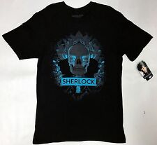BBC Sherlock SKULL & SILHOUETTE EXCLUSIVE T-Shirt NWT Official