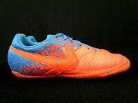 Nike Elastico II Indoor Men's Soccer Shoes Mango/Blue Size 7.5 (580454-884)