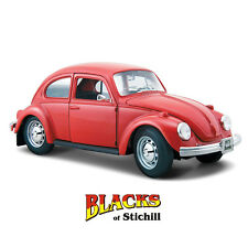 Maisto 1:24 scale 1973 VOLKSWAGEN BEETLE Red Diecast modèle, type 1,Bug, VW, kafer