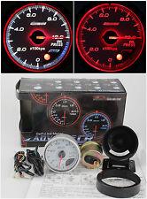 Oil pressure gauge White face 60mm Link Meter Turbo Skyline WRX EVO Silvia BF CR