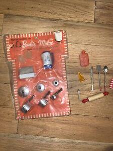 Vintage 1963 Barbie and Midge Mattel pots toaster coffee toast sealed NRFB MINT