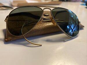 WWII Bausch & Lomb Ray Ban Sunglasses Glasses 12K GF 1/10 Aviator B&L