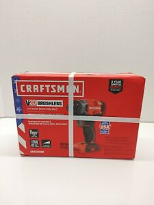 """Craftsman CMCF820B V20 Lithium ion Brushless 1/4"""" Impact Driver (TOOL ONLY)"""