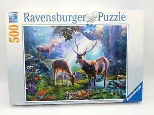 500 Pieces Puzzle - Deer IN The Forest - Ravensburger