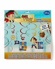 Jake and the Never Land Pirates Kids Birthday Party Hanging Swirl Decorations