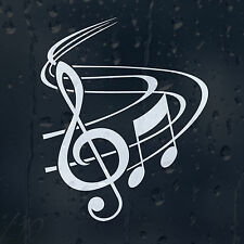 Classic Music Notes With Treble Clef Car Graphic Decal Vinyl Adhesive Sticker