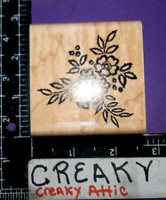LACE FLOWERS BOUQUET CLUSTER RUBBER STAMP STAMPENDOUS F107