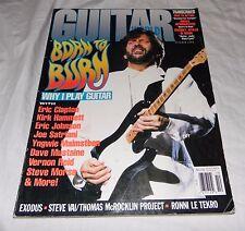 Guitar World Magazine Back Issue October 1992 Eric Clapton Why I Play