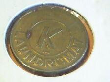 K Laundromat Token Brass