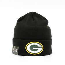 NEW ERA NFL Green Bay Packers Mütze Beanie Cuff Knit Schwarz Limited Edition