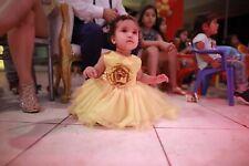 Prinzessin Belle Baby Mädchen Kleid Erste 1. Geburtstagsparty Brautkleid Beauty