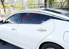 Chrome Window Visor Vent Shades Sun Rain Guard 6PCS FOR Nissan Altima 2019-2021