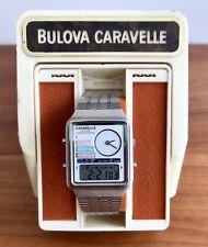 Rare Vintage Caravelle Alarm Chronograph LED LCD Analog Digital Ana-Digi Bulova