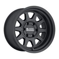17x8 Black Rhino Stadium Matte Black Wheels 5x130 (45mm) Set of 4