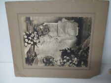 Stunning Early 1900's Elaborate Post Mortem Photograph - Baby