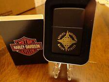 HARLEY DAVIDSON DIAMOND ENGRAVED BLACK MATTE ZIPPO LIGHTER MINT IN BOX
