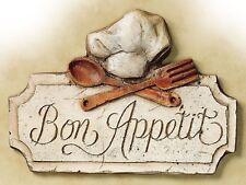 Bon Appetit, Retro metal Sign/Plaque Wall vintage / Kitchen Gift
