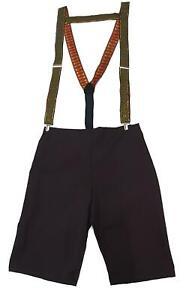 Christmas Lederhosen Shorts & Festive Decorative Braces Oktoberfest [One Size]