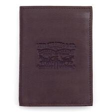 LEVI'S NEW Men's Premium Leather Wallet Brown BNWT