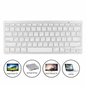 Slim Wireless Russian/Thai Keyboard 78keys BT Keypad For IOS/Windows/Android