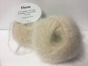 10 Pelotes laine mohair/ beige clair/ très douce/ fabriqué en France