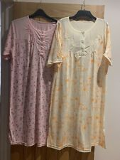 Ladies Pack 2 of Pink & Yellow Floral Night Dresses Size UK 18.