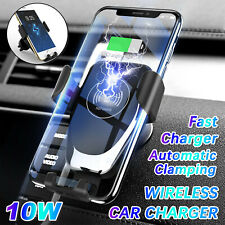 Qi Automatic Clamping Wirless Charger Car Mount Air Vent Phone Holder for Mobile