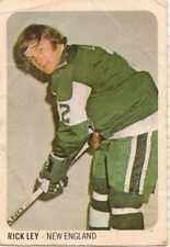 1973-74 Rick Ley WHA Quaker Oats Hockey card.  New England Whalers #25