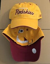 Vtg NEW Washington Redskins Dad Hat Cap 90s NFL Super Bowl Football Script RARE