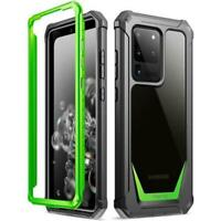 Poetic For Galaxy S20 Ultra Case, Dual Layer Shockproof Protective Cover Green