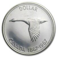 1967 Uncirculated $1.00 Canada Silver Dollar .800 Goose BU/Proof Like