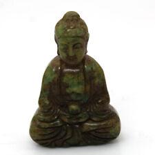 """P942 Ancient China Buddhist Culture Old Jade Sakyamuni Buddha Amulet Statue 2.4"""""""
