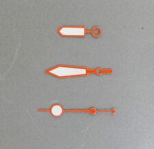 NEW all Orange Plongeur hand set fit SEIKO diver 6309, 7002, 7S26, SKX007...