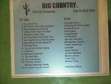 Big Country~~karaoke~~003~~~Do You Want Fries With That~~Georgia Rain~~~CD+G~New