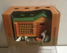 Terra by Battat Bunny Hutch Playset W/ Bunnies Preschool Pretend Play Brand New