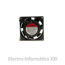 Ventilador aluminio Sunon 80x80x25mm 220V sin escobillas incubadoras Nacedoras