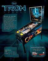 Disney TRON Legacy Pinball FLYER Original NOS Flipper Arcade Game STERN Sci-Fi