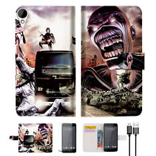 Iron Maiden Wallet TPU Case Cover For HTC Desire 825 -- A014