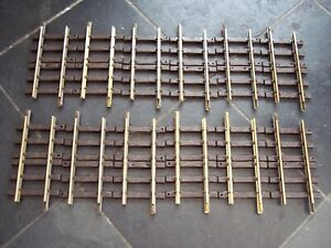 12 LGB 10150 G SCALE MODEL RAILWAY 150mm BRASS TRACK STRAIGHTS