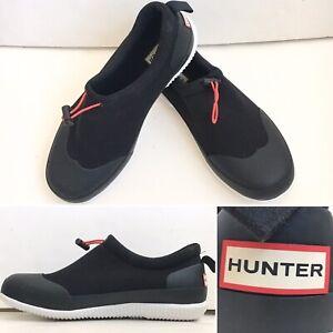 Hunter Original Mesh Rubber Shoe Men US 10, Waterproof ,Black , New